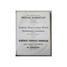 BULETINUL  GUVERNULUI PROVINCIAL PENTRU TRANSILVANIA , 1856