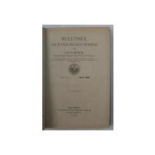 BULETINUL SOCIETATII REGALE ROMANE DE GEOGRAFIE , TOMUL XL , ANUL 1921 , APARUTA 1922