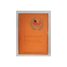 BULETINUL STIINTIFIC AL SOCIETATII STUDENTILOR FOLCLORISTI DIN ROMANA , VOLUMUL I , 1978 , BLOCUL DE FILE DEGRADAT PE MIJLOC *