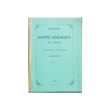 BULLETIN DE LA SOCIETE GEOLOGIQUE DE FRANCE  - EXTRAIT , par M . STEPHANESCO , 1877 , CONTINE DEDICATIA AUTORULUI CATRE DL.  DIM. STURDZA ,