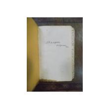 C. C. Giurescu, Caiet manuscris de note si impresii 1920-1928