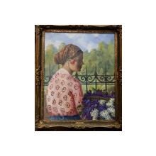 C. Mirescu,  Tanara cu flori