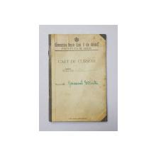 CAET DE CURSURI , UNIVERSITATEA REGELE CAROL II DIN CERNAUTI , FACULTATEA DE DREPT , 1937