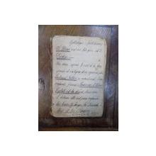 Caiet manuscris colectia familiei Zoe Mandrea, nepoata a lui Nicolae Balcescu