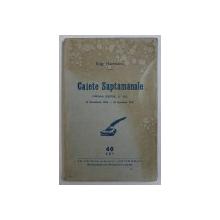 CAIETE SAPTAMANALE de EUG . HEROVANU , PRIMA SERIE ( 1 - 10 ) , 19 NOEMBRIE 1936 - 28 IANUARIE 1937
