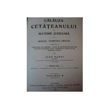 CALAUZA CETATEANULUI-IOAN RADOI,VOL.2-IOAN RADOI,BUC.1926