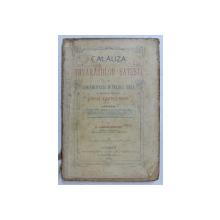 CALAUZA TOVARASIILOR SATESTI SI CONTABILITATEA IN PARTIDA DUBLA CU UN SINGUR REGISTRU  - JURNAL - CARTEA -  MARE de G. LUCIAN  - BOLTUS , 1906 , PREZINTA URME DE UZURA *