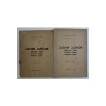 CALCULUL CADRELOR - DEPLASARI SI LUCRU MECANIC VIRTUAL IN METODA ' CROSS ' de PANAIT C . MAZILU , VOLUMELE I - II , 1946
