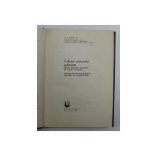 CALCULUL SISTEMELOR AUTOMATE de C. J. SAVANT , 1967