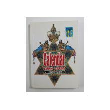 CALENDAR - LUAH 5764 / 2003 - 2004