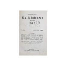 CalendarulTransilvaniei pentru anul 1872 - Sibiu, 1872