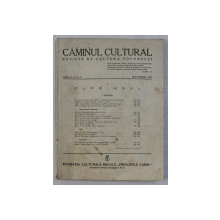 CAMINUL CULTURAL  - REVISTA DE CULTURA POPORULUI , ANUL V , NR. 9 , SEPTEMBRIE , 1939