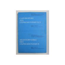 CAPODOPERE ALE EXPRESIONISMULUI , EXPOZITIE MUZEUL DE ARTA AL R.S.R. , OCTOMBRIE - NOIEMBRIE ,  TEXT IN ROMANA - GERMANA ,  1972