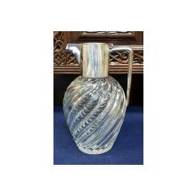 Carafa din cristal si argint, Sec XIX