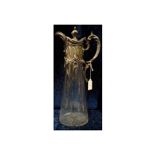 Carafa, sticla si metal argintat