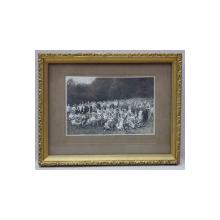 CARANSEBES , FOTOGRAFIE DE GRUP IN POIANA , MONOCROMA, INRAMATA , DATATA 1924