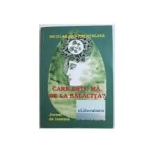 CARE ESTI , MA , DE LA BALACITA ? - JURNAL DE TOAMNA de NICOLAE DAN FRUNTELATA  , 2014 , DEDICATIE*