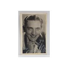 CARLOS MORENO , DEDICATIE PE FOTOGRAFIE , TIP CARTE POSTALA , 1937