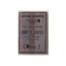 CARNET DE IDENTITATE PENTRU FUNCTIONARII PUBLICI CU REDUCERE DE 50 % , CLASA I , CAILE FERATE  ROMANE , 1926
