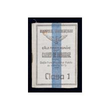 CARNET DE IDENTITATE PENTRU SOTIA FUNCTIONARULUI PUBLIC   - CAILE FERATE ROMANE , EMIS LA 1921