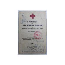 CARNET DE INFIRMIERA VOLUNTARA A SOCIETATII NATIONALE DE CRUCE ROSIE A ROMANIEI , 1937