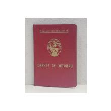 CARNET DE MEMBRU  - U.T.C. - UNIUNEA TINERETULUI COMUNIST DIN ROMANIA , ORGANIZATIA  BUCURESTI , ELIBERAT 29 APRILIE 1966