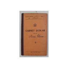 CARNET SCOLAR , EMIS DE SCOALA PRIMARA DE STAT NR. 1 DIN CHISODA , JUDETUL TIMIS , 1934