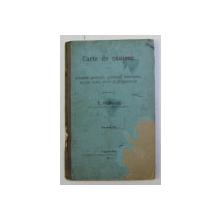 CARTE DE CANTECE PENTRU SCOALELE PRIMARE , GIMNAZII , INFERIOARE , SCOALE REALE , CIVILE SI PREPARANDII , intocmita de T. POPOVICI , PARTEA II - A , 191111A