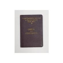 CARTE DE LEGITIMATIE , CORPUL CONTABILILOR AUTORIZATI SI EXPERTI CONTABILI , SECTIA BIHOR , 1948