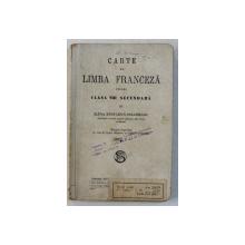 CARTE  DE LIMBA FRANCEZA PENTRU CLASA VIII SECUNDARA de ELENA RADULESCU - POGONEANU , EDITIE INTERBELICA