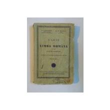 CARTE DE LIMBA ROMANA PENTRU CLASA A III-A SECUNDARA APROBATA DE MINISTERUL INSTRUCTIUNII IN 1935 de D. CARACOSTEA, D.R. MAZILU, EDITIA A III-A