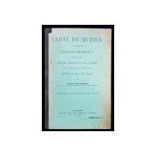CARTE DE MUZICA CUPRINZAND SOLFEGII PROGRESIVE PENTRU CLASA I SECUNDARA de VASILE SOLOVEANU - BUCURESTI, 1912