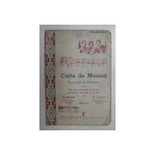 CARTE DE MUZICA - EXERCITII SI CANTECE PENTRU CLASA A - II-A SECUNDARA de  GR. MAGIARI si N. LUNGU , 1944