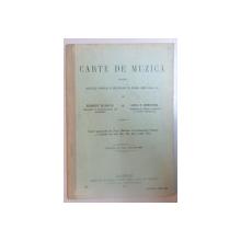 CARTE DE MUZICA PENTRU SCOALELE NORMALE SI SECUNDARE DE AMBELE SEXE CLASA  I - A  de  ROBERT KLENCK si NICU P . CERCHEZ   ,  BUCURESTI 1915