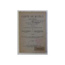 CARTE DE MUZICA - SOLFEGII - PENTRU CLASA a - V - a SECUNDARA DE BAIETI SI FETE de MIHAIL TANASESCU , VASILE SOLOVEANU