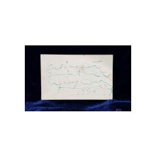 CARTE DE VIZITA CU DEDICATIA LUI GEORGE ENESCU , APARTINAND LUI PETRE VANGA , DATATA 1936
