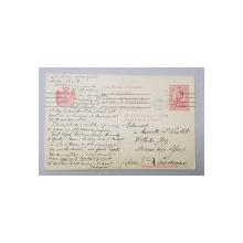 CARTE POSTALA EXPEDIATA DE UN CANDIDAT LA CAMERA , DATATA 1912