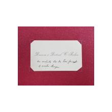 CARTEA DE VIZITA A DOAMNEI SI DOCTORULUI C. PARHON ( 1874 - 1969 )  , SCRISA PE FATA CU CERNELA NEAGRA , PERIOADA INTERBELICA