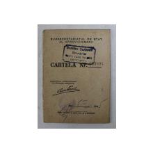 CARTELA DE ALIMENTE , ELIBERATA DE SUBSECRETARIATUL DE STAT AL APROVIZIONARII , PE NUMELE CUSUTA ALEXANDRU  , CONSTANTA , 5 FEBRUARIE 1945