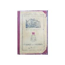 Casa Ostirii, Carnet de membru - 1943
