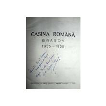 CASINA ROMANA- BRASOV 1835-1935   - BRASOV 1935