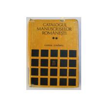 CATALOGUL MANUSCRISELOR ROMANESTI de GABRIEL STREMPEL , VOLUMUL II  - B.A.R. 1601 - 3100 , 1983