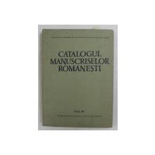 CATALOGUL MANUSCRISELOR ROMANESTI , VOLUMUL IV ( 1062 -1380 ) , intocmit de G. STREMPEL ...L. STOIANOVICI , 1967 , DEDICATIE*