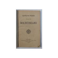 CATE - VA POESII DIN ALE LUI BOLINTINEANU , 1885