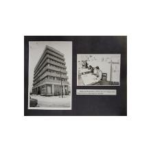 CENTRALA DE CONSTRUCTII CAI FERATE ,  FOTOGRAFIA SEDIULUI SI A UNUI BIROU DE PROIECTARE , LIPITE PE CARTON , ANII  '70  - '80