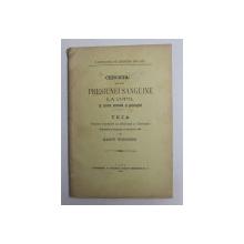 CERCETARI ASUPRA PRESIUNEI SANGUINE LA COPIL IN STAREA NORMALA SI PATOLOGICA de MARCU WEINBERG , 1906