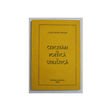 CERCETARI DE POETICA SI STILISTICA de LUIZA PETRE PARVAN , 1994