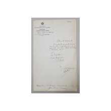 CERERE CATRE MINISTERUL INSTRUCTIUNII SI AL CULTELOR , SEMNATA DE C.RADULESCU  MOTRU , DATATA 1926
