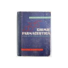 CHIMIE FARMACEUTICA  - MANUAL PENTRU SCOLILE TEHNICE  SANITARE de V . ZOTA si D . OTELEANU , 1962
