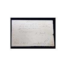 CHITANTA DE MANA SCRISA SI SEMNATA DE FROSA SARANDI , ACTRITA TEATRULUI NATIONAL DIN BUCURESTI , DATATA 1896